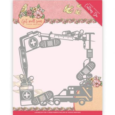 YCD10100 L ~ Get Well Soon ~ Get Well Frame ~ Yvonne Creations